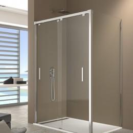 Mampara de ducha bypass con lateral fijo