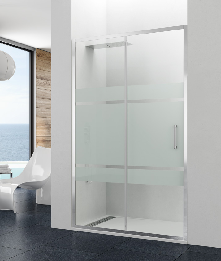 Mamparas de ducha serie Prestige integra en 8 mm