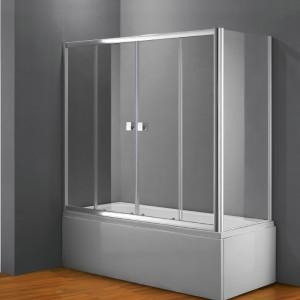 frontal bañera titan transparente con lateral fijo