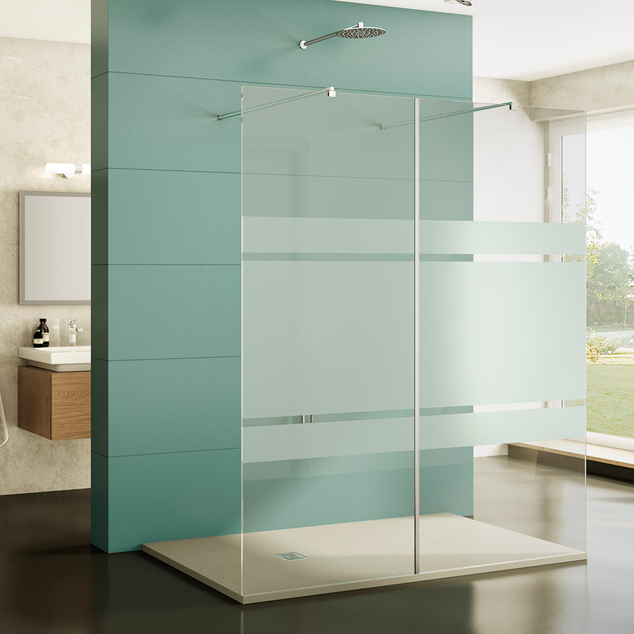 Mamparas de ducha cristales fijos de 8 mm modelo Screen - GME